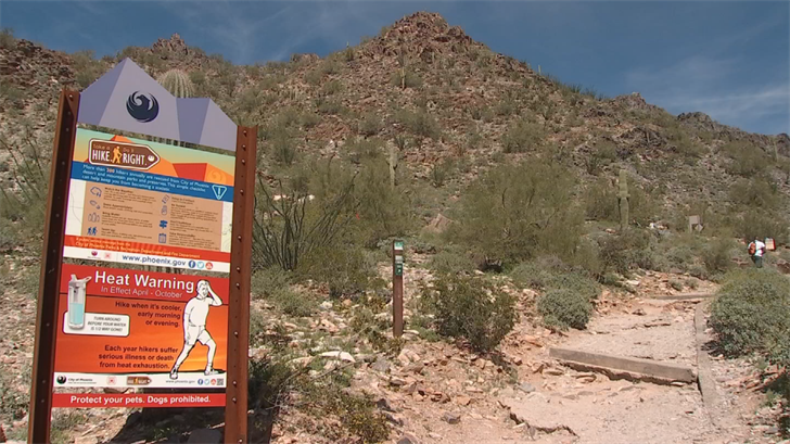 Piestewa Peak hiking trailhead. (Source--3TV/CBS5)