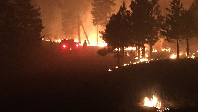 Expected overnight winds forced residents near Payson to evacuate Thursday night. (Source: Highline Fire Info)