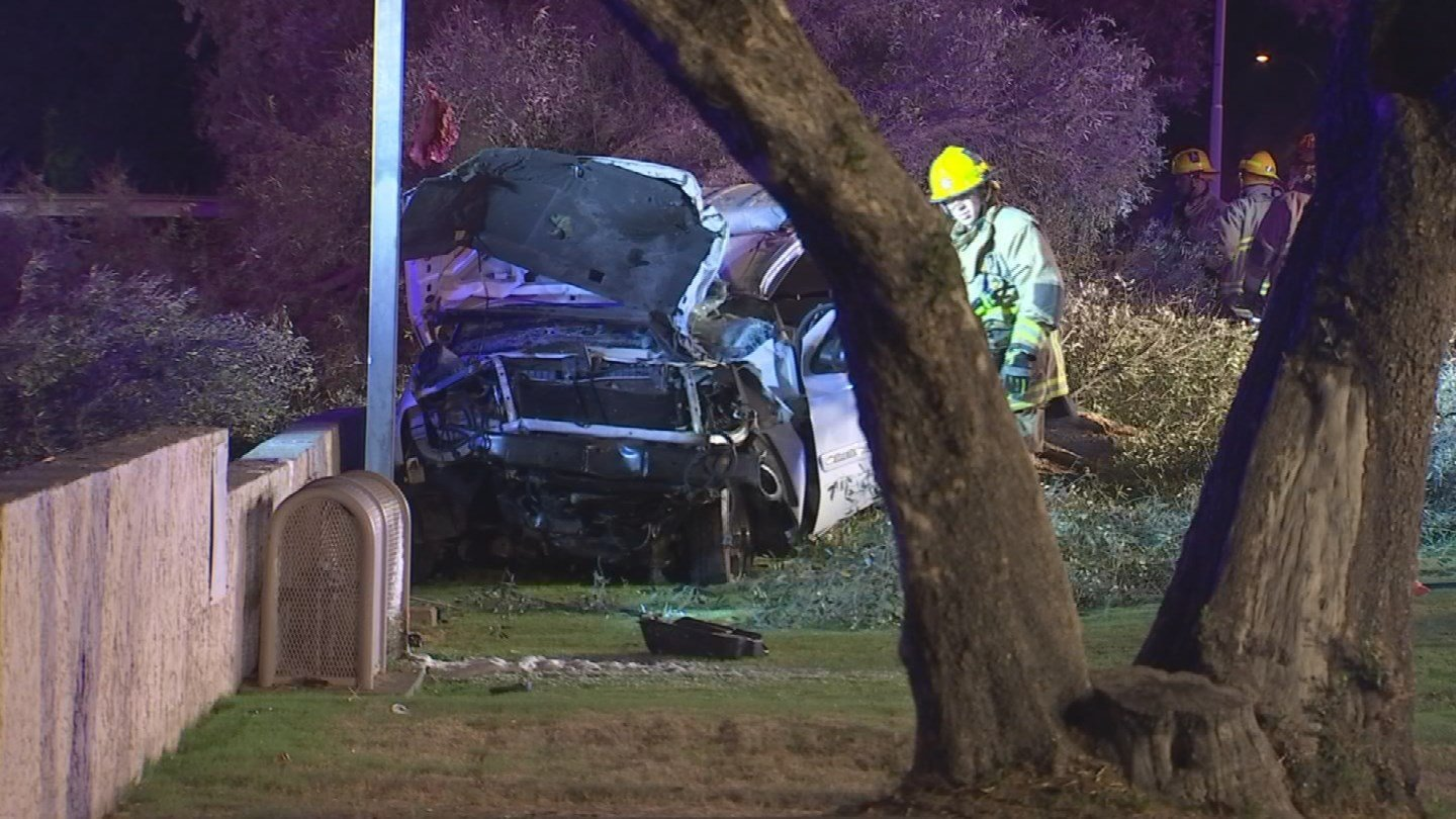 The three occupants of the SUV were transported to the local hospital. (Source: 3TV/CBS 5)