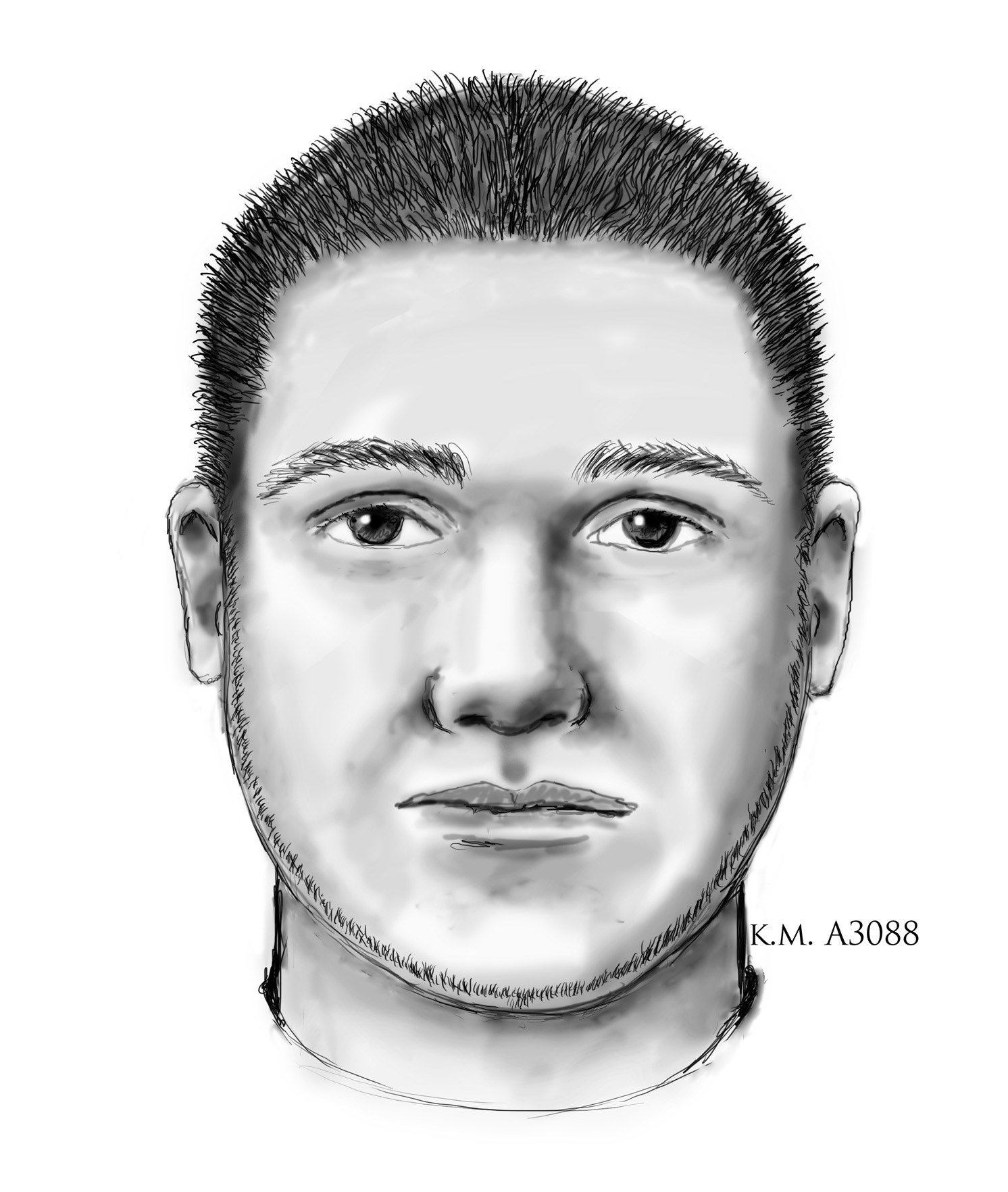 A sketch of the gunman. (Source: Phoenix police)