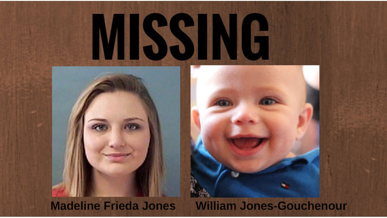 Madeline Frieda Jones, 19, and her 8-month-old son William Jones-Gouchenour have not been seen since Thursday, according to the Mesa Police Department. (Source: Mesa Police Department)