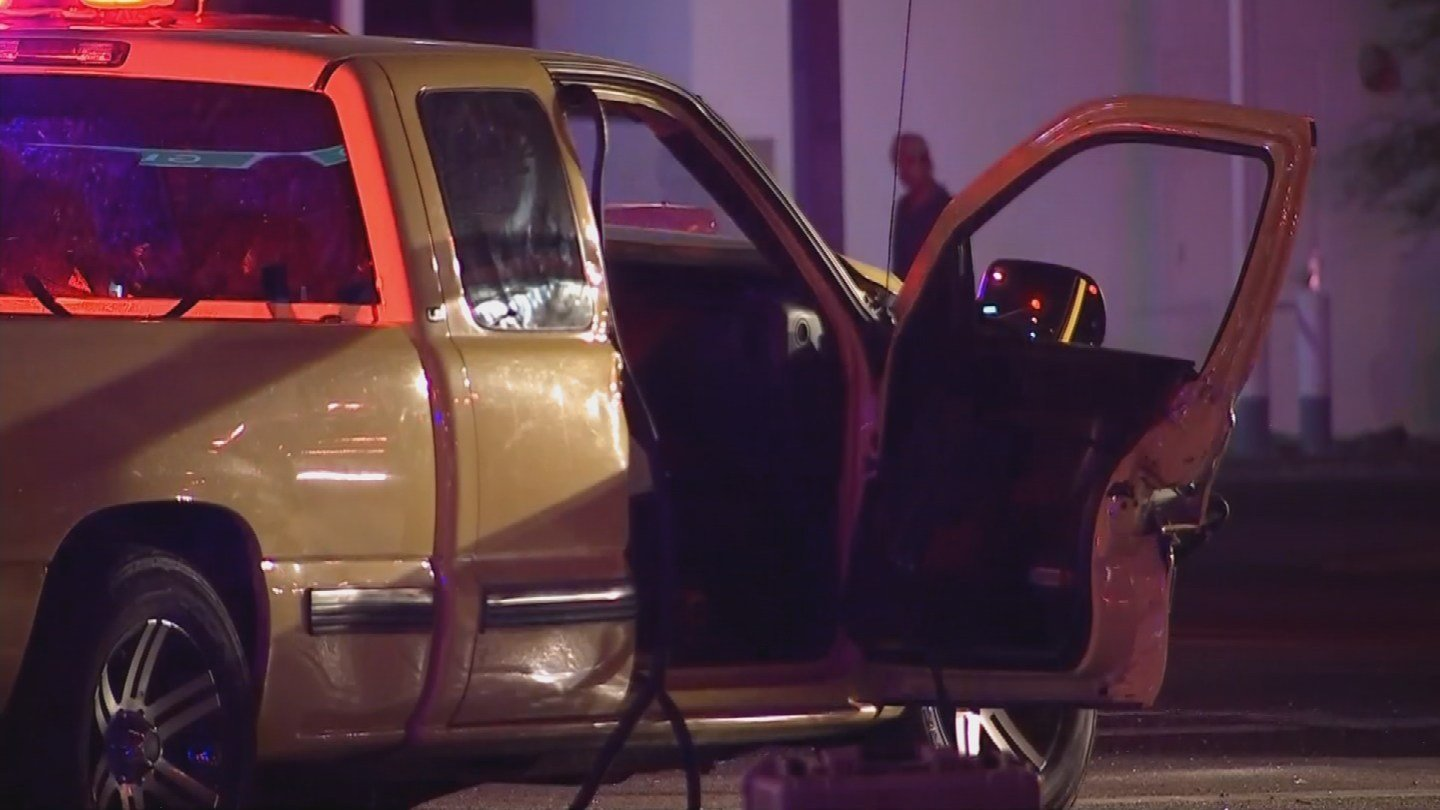 Truck involved in the crash at 35th and Glendale Avenues(Source: 3TV/ CBS 5)
