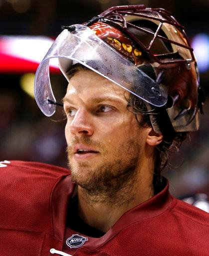 Arizona Coyotes goalie Mike Smith (Source: Associated Press)