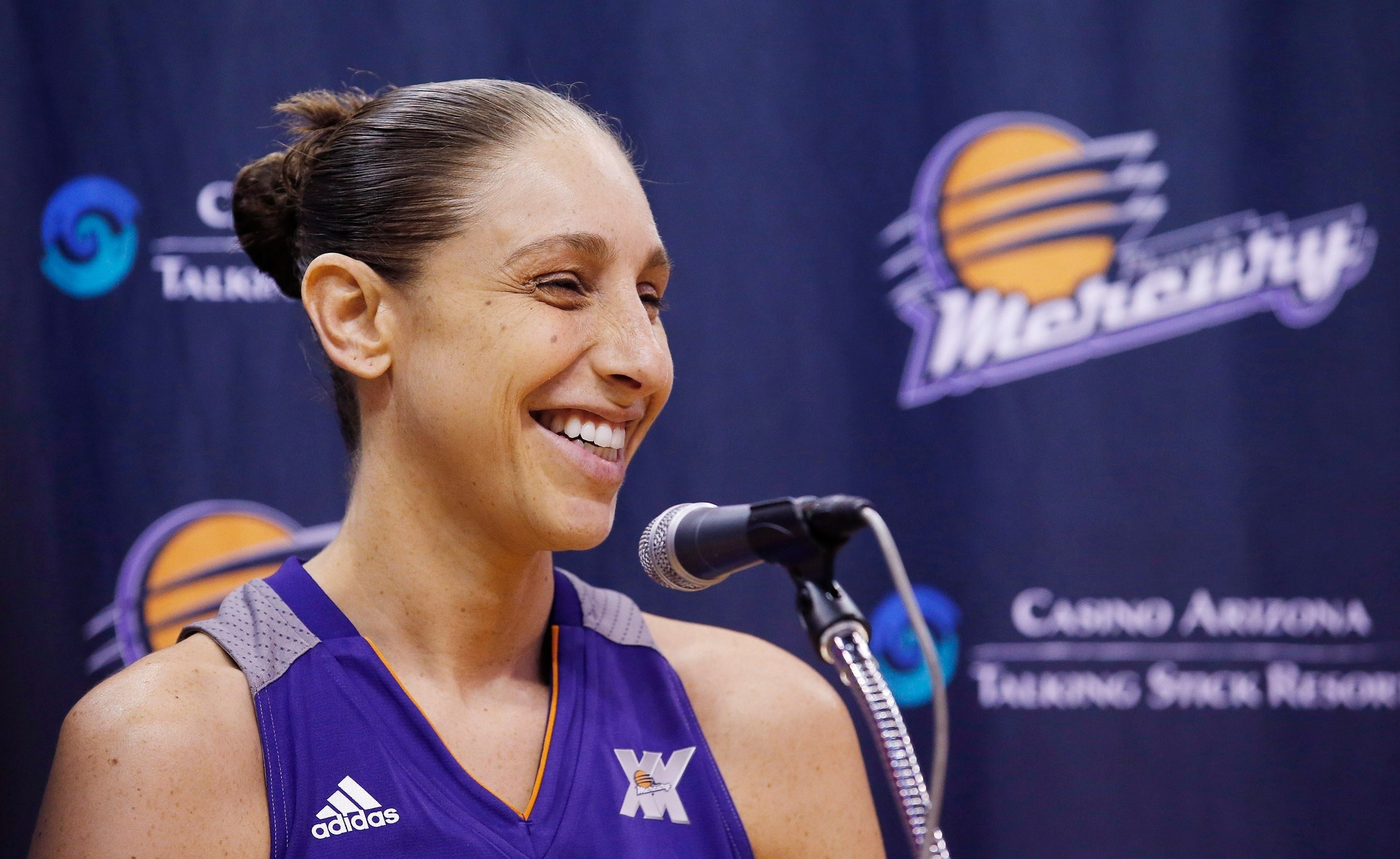 Diana Taurasi became the WNBA's career score leader, passing Tina Thompson's mark of 7,488 on June 18, 2017. (Source: Associated Press)