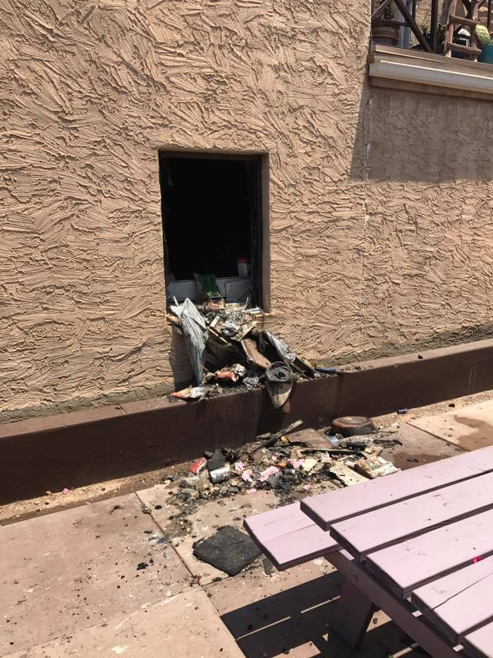 Damage from an apartment fire in Phoenix Sunday. (18 June 2017) [Source: Phoenix Fire Dept.]