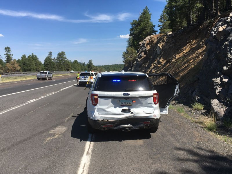 The BMW fled the scene with the trooper unable to pursue. (Source: Arizona Department of Public Safety)