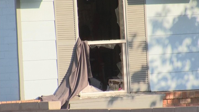 The home had its windows broken in. (Source: 3TV/CBS 5)