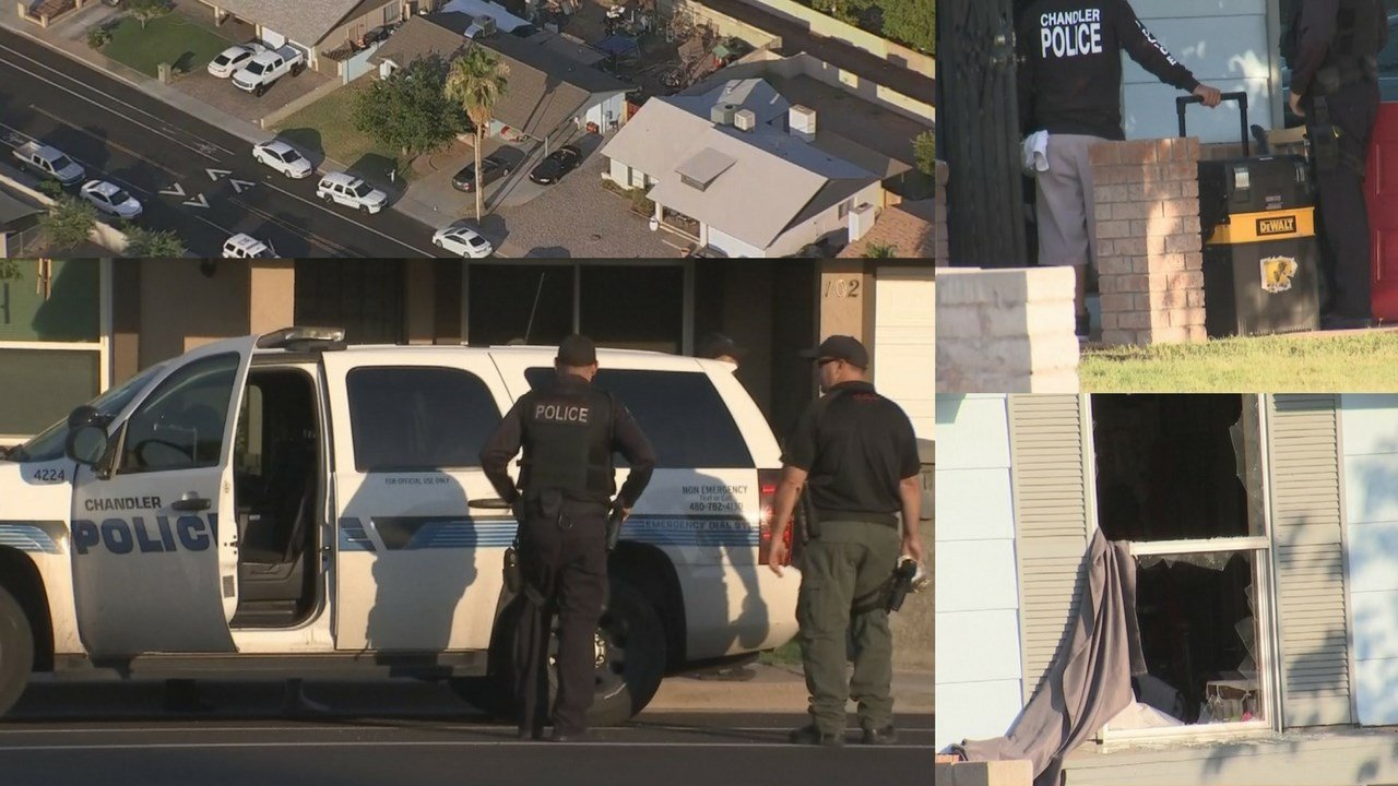 Chandler police and SWAT team served a search warrant Monday morning. (Source: 3TV/CBS 5)