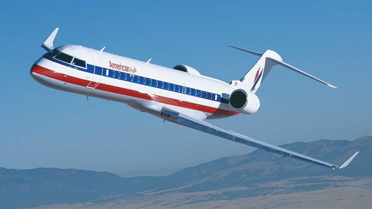 American Eagle Bombardier CRJ700 Regional Jet (Source: http://us.bombardier.com/)