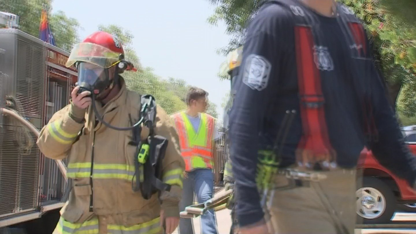 Hot weather makes fighting fires that much harder. (19 June 2017) [Source: 3TV/CBS 5 News]