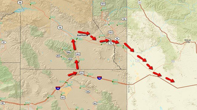 Drivers are advised to use an alternate route. (Source: ADOT)