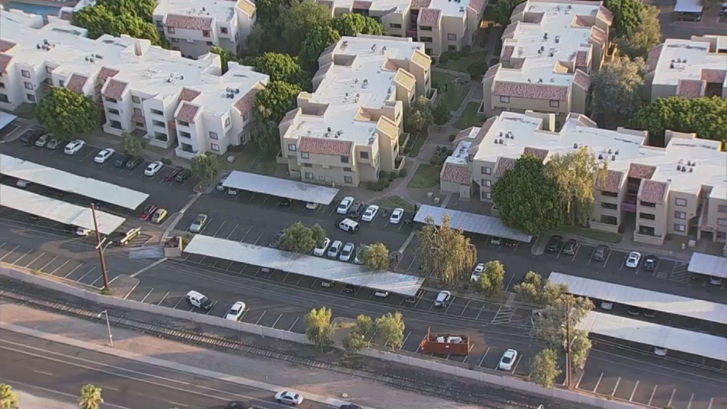 The altercation occurred at an apartment complex in Tempe. (Source: 3TV/CBS 5)