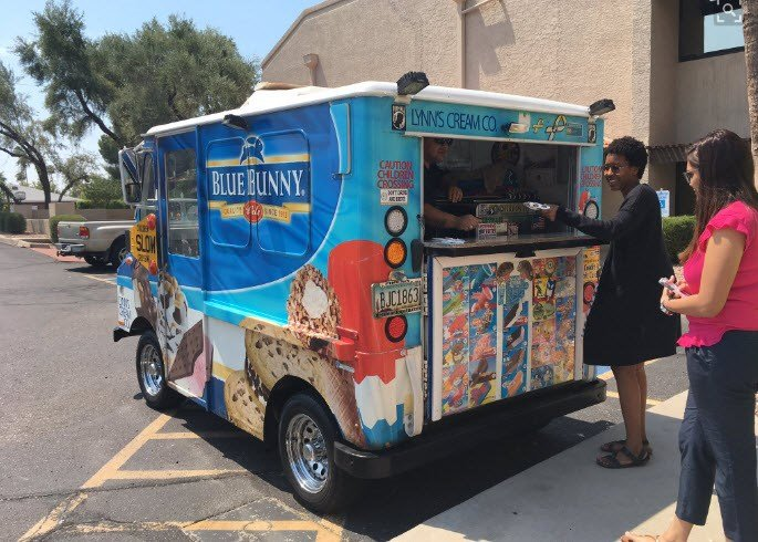 Thanks for the ice cream! (Source: 3TV/CBS 5)
