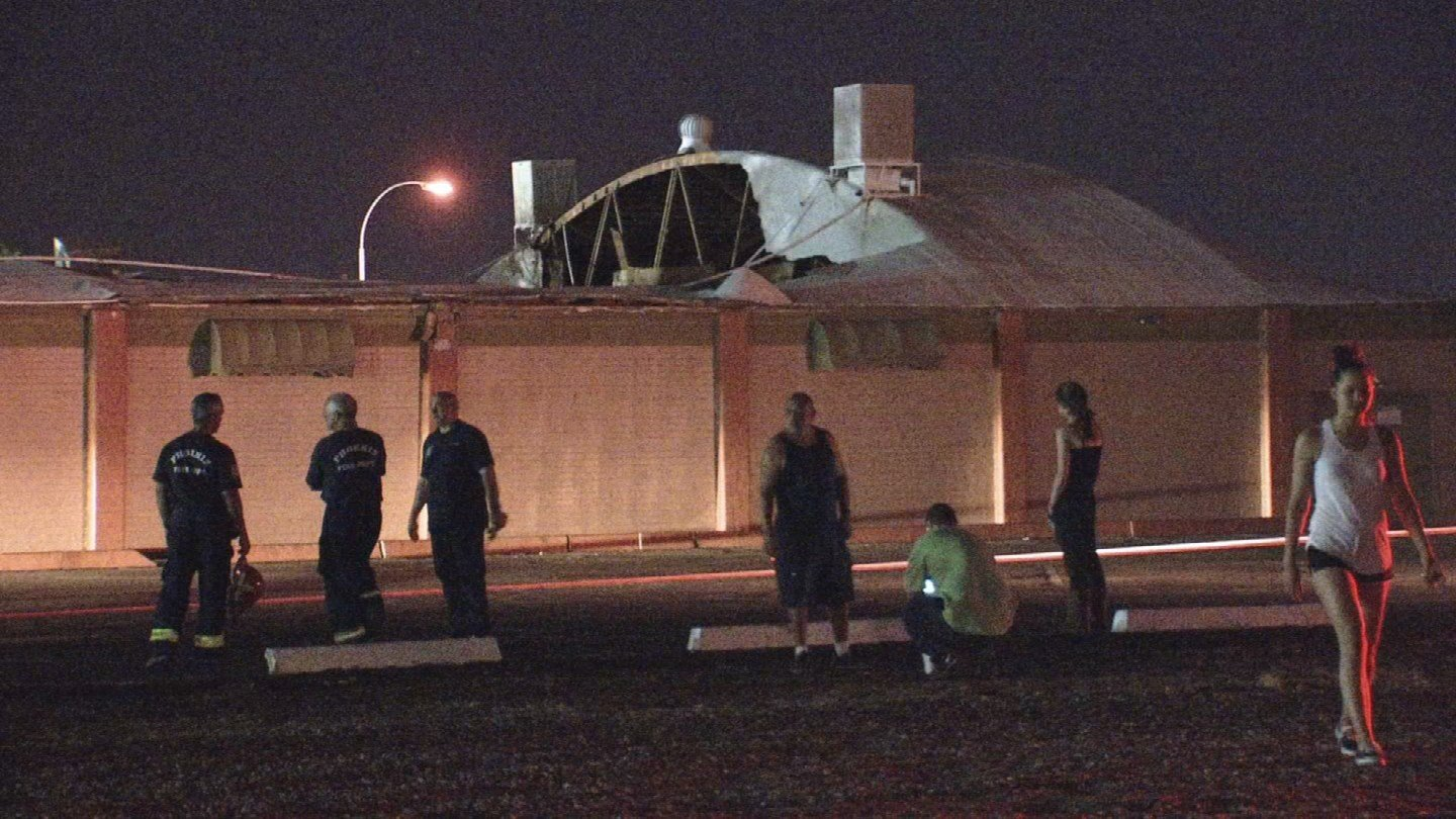 Phoenix fire reported no injuries from the collapse. (Source: 3TV/CBS 5)