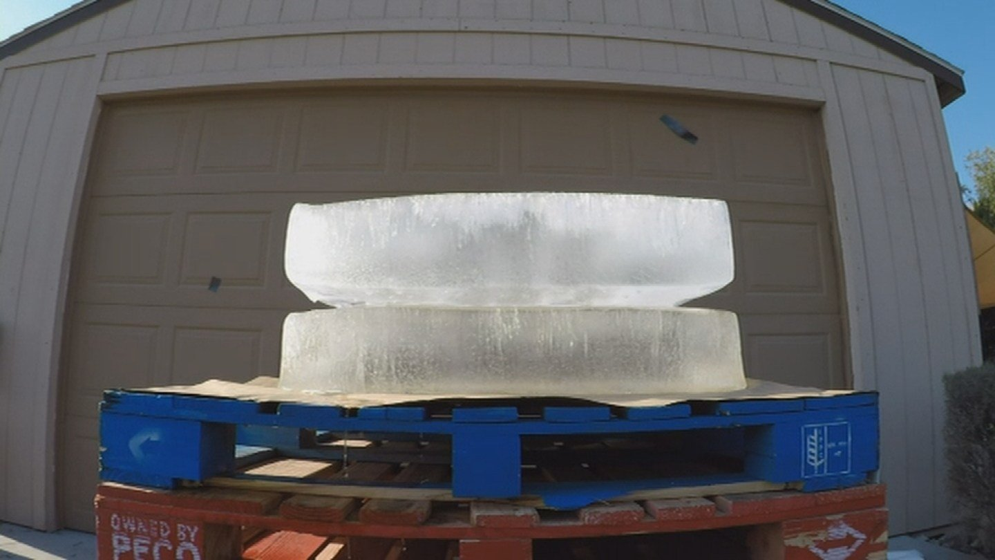 How long does 600 pounds of ice take to melt? (Source: 3TV/CBS 5)
