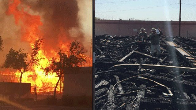 A home under construction went up in flames on Tuesday in Chandler. (Source: Connor Chamalbide/MCSO)