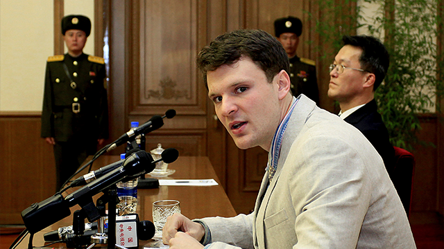 Otto Warmbier spent 17 months in detention in North Korea.  (AP Photo/Kim Kwang Hyon, File)