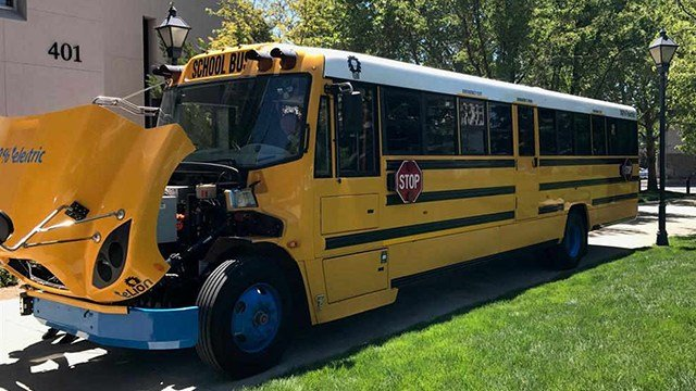 Chispa Arizona wants to use the cash from the Volkswagen emissions settlement to buy electric school buses. (Source: CNN)