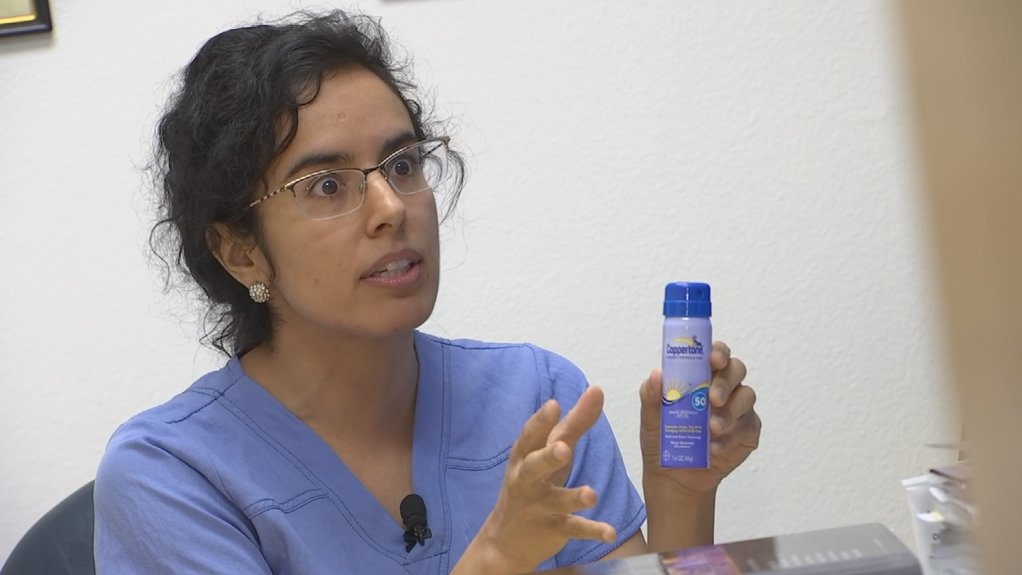 Dr. Sarihan say spray sunscreens can be harder to distribute evenly over the body. (Source: 3TV/CBS 5)