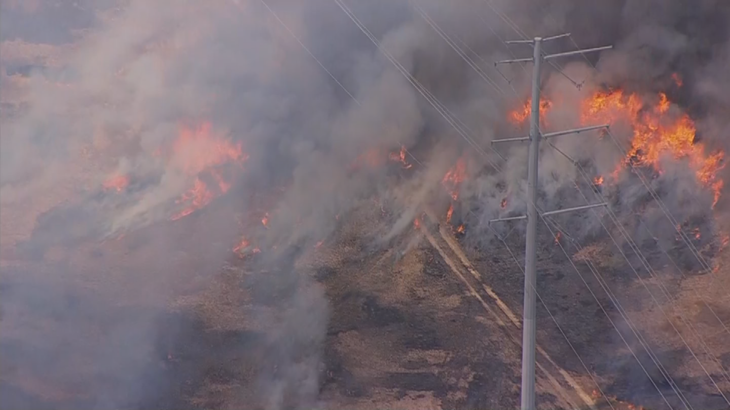 A brush fire erupted in north Phoenix on Thursday and dozens of crews were called out to fight it. (Source: 3TV/CBS 5)