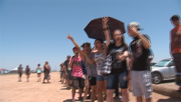 By mid-day, more than two dozen had already sought treatment for heat exhaustion. (Source: 3TV/CBS 5)