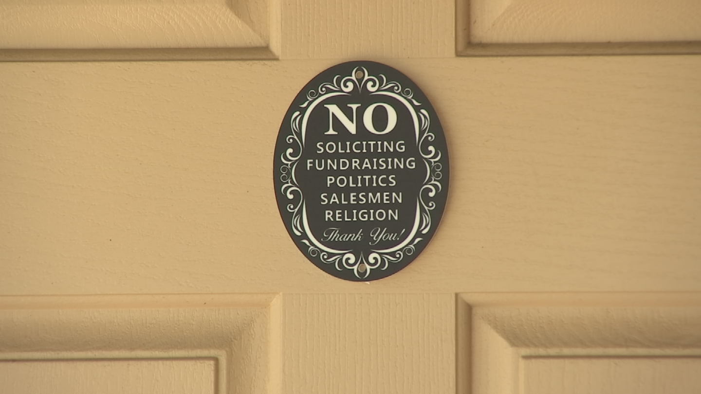 "Greg Weiss says he pointed to his ""no soliciting"" sign posted on the door and told the man to leave. (Source: 3TV/CBS 5)"