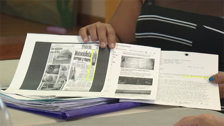 The man she's accusing of assaulting and beating her is seen in a Mexican newspaper after he assaulted another woman in recent years. (Source: 3TV/CBS 5)