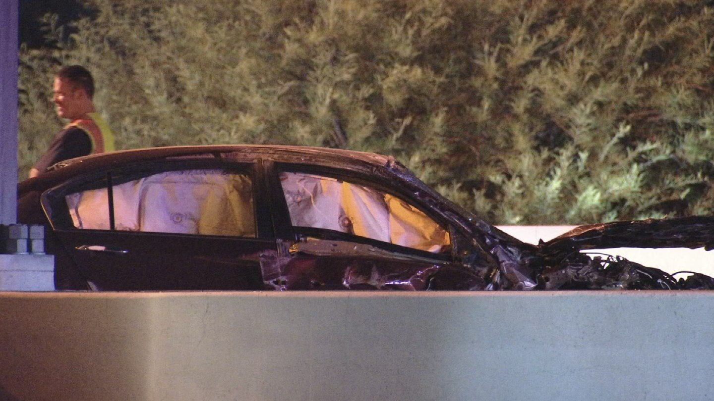 An overnight rollover accident on State Route 202 left one person injured early Friday morning, according to Department of Public Safety. (Source: 3TV/CBS 5)