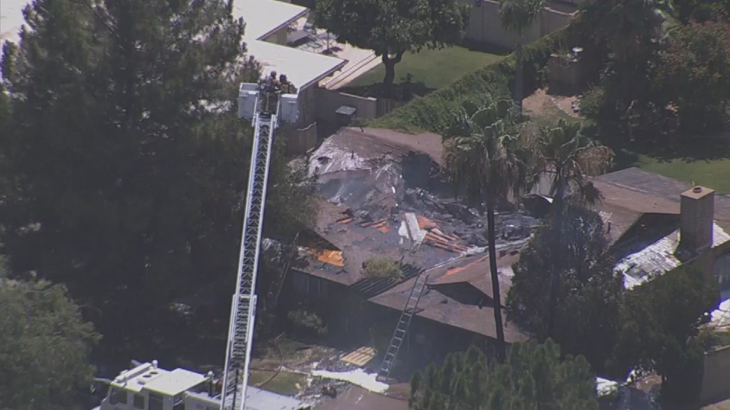 3 TV News chopper was over a house fire in Scottsdale Friday. (23 June 2017) [Source: 3TV/CBS 5 News]
