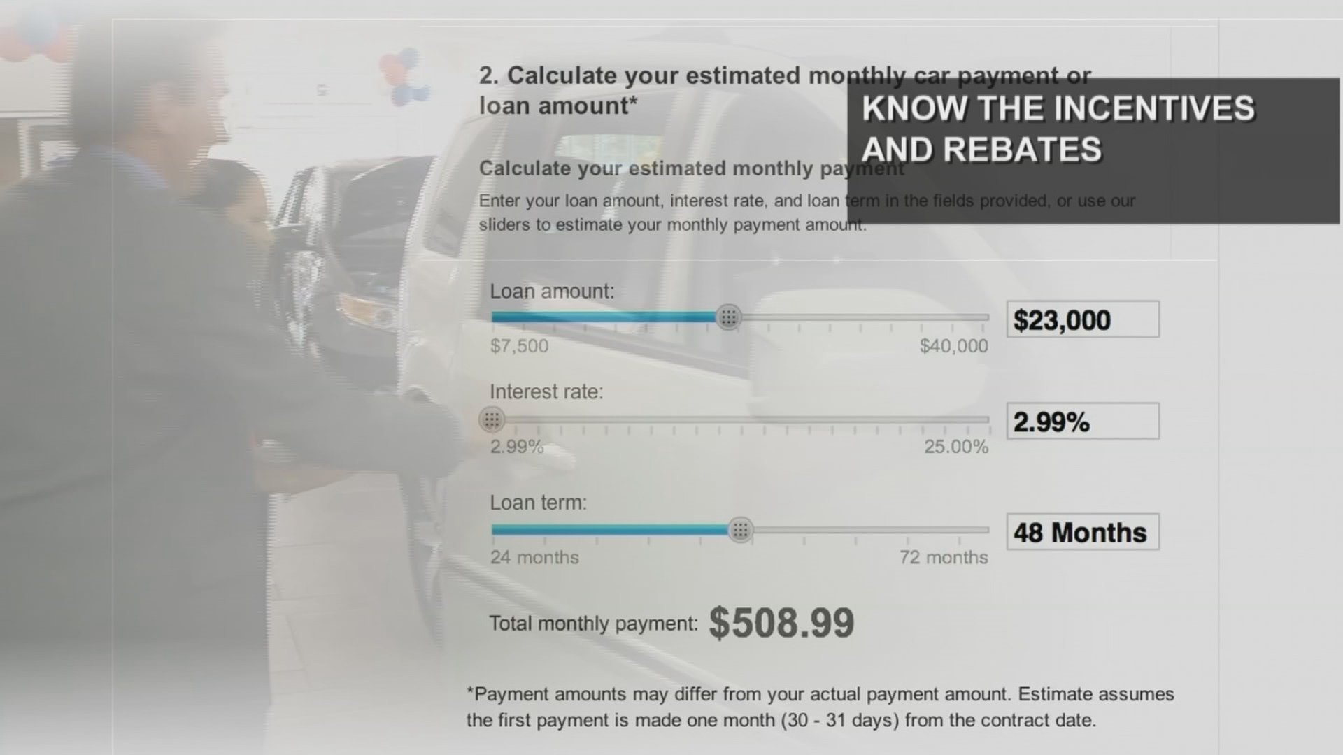 Do your homework. Know the incentives and rebates before you arrive at a car dealership. (Source: 3TV/CBS 5)