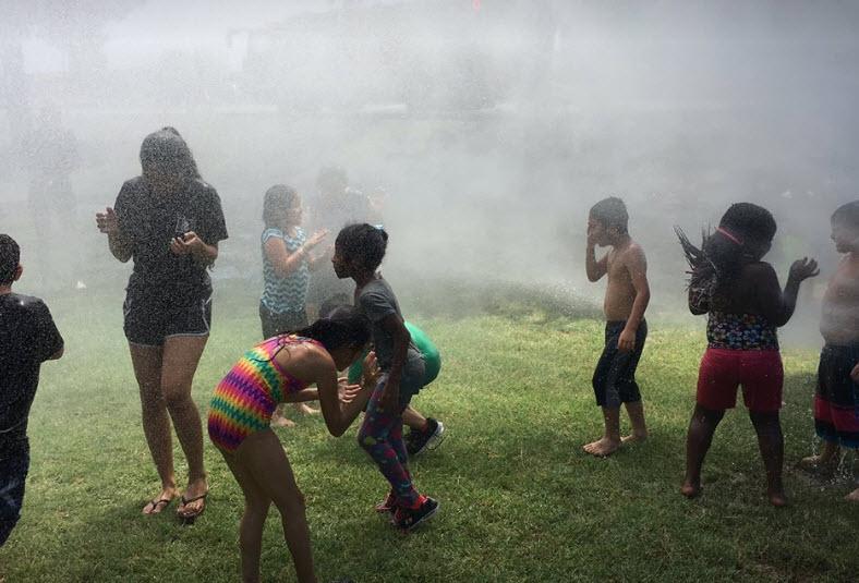 Chandler fire crews help kids keep cool (Source: Facebook)