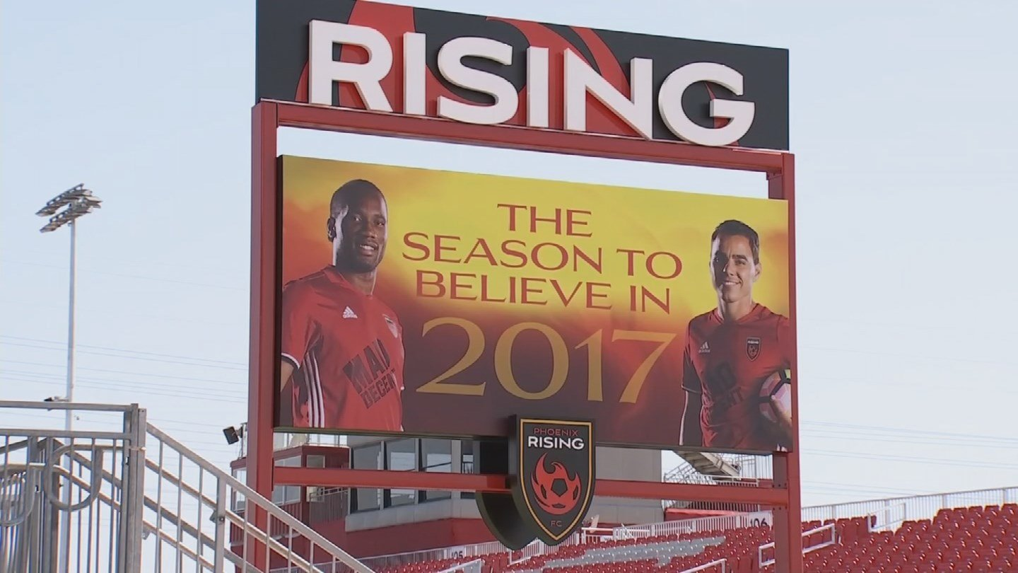 """""""Rising In America"""" offers fans the opportunity to purchase tickets that would go directly into the hands of refugees. (Source: 3TV/CBS 5)"""