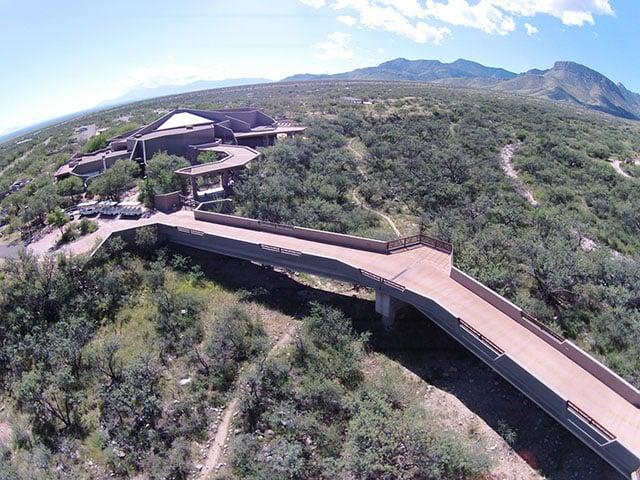 A birds eye view of Kartchner Caverns State Park facility near Benson.  (26 June 2017) [Source: Arizona State Parks & Trails]