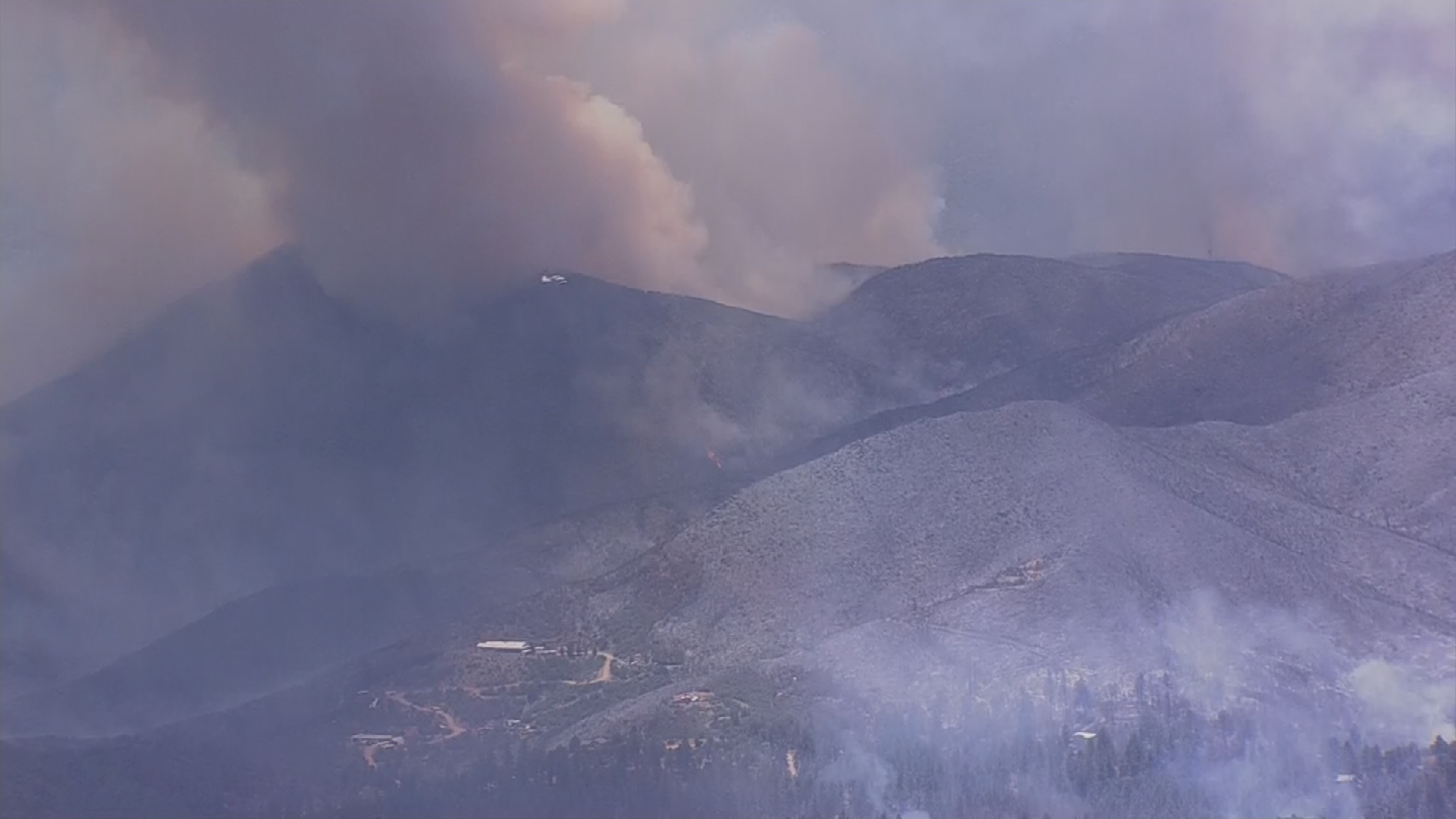 The Goodwin Fire has burned about 1,500 acres since it was started on Saturday afternoon. (Source: 3TV/CBS 5)