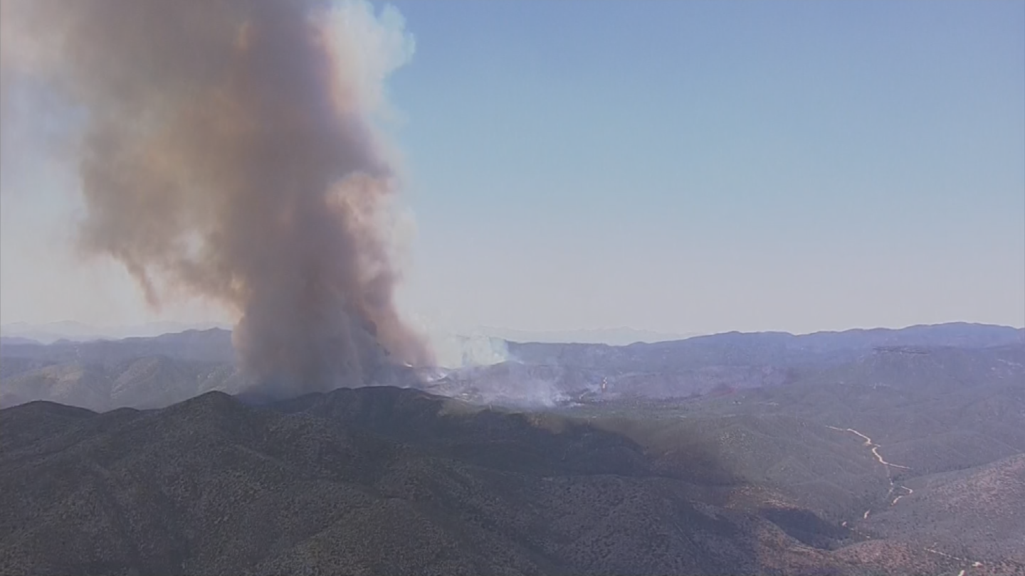 As a precaution, Yavapai County Sheriff's Office has evacuated the community of Pine Flat. (Source: 3TV/CBS 5)