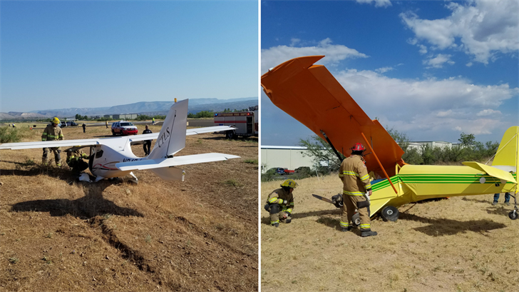 No one  was hurt in two hard landings in Cottonwood. (Source: Cottonwood Fire and Medical Department)