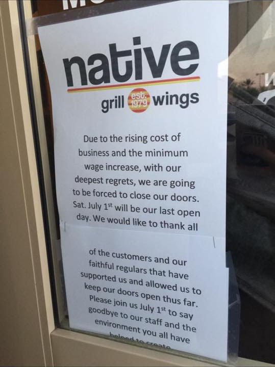 The Chandler Native Grill and Wings last day is July 1. (Source: www.facebook.com/groups/livingchandler)