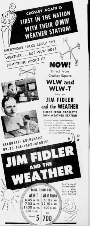 For many years, Jim Fidler was the top weatherman around