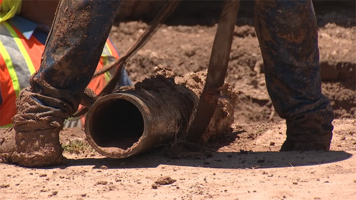 Crews fixed the pipe only to discover another leak somewhere else. (Source: 3TV/CBS 5)