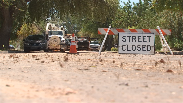 Once the pipe is repaired, the water will be tested before giving everyone on this block the thumbs up to use it. (Source: 3TV/CBS 5)