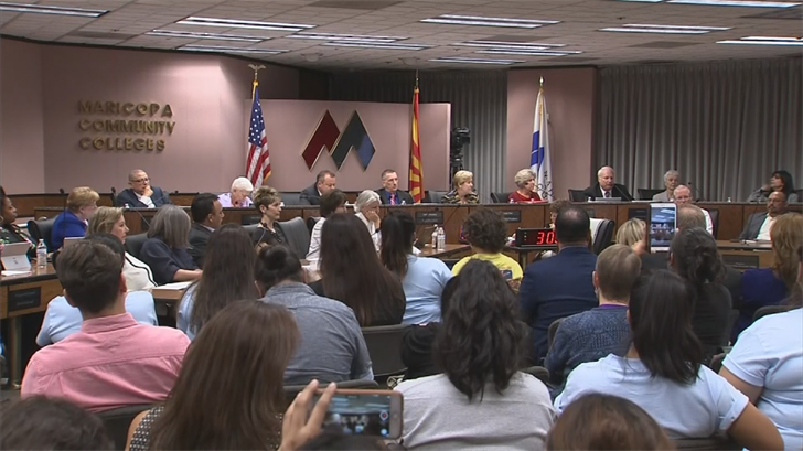 The Maricopa County Community College District board voted 4-3 Tuesday evening to pursue an appeal of an appeals court ruling that rejected in-state tuition for so-called DREAMers. (Source: 3TV/CBS 5)