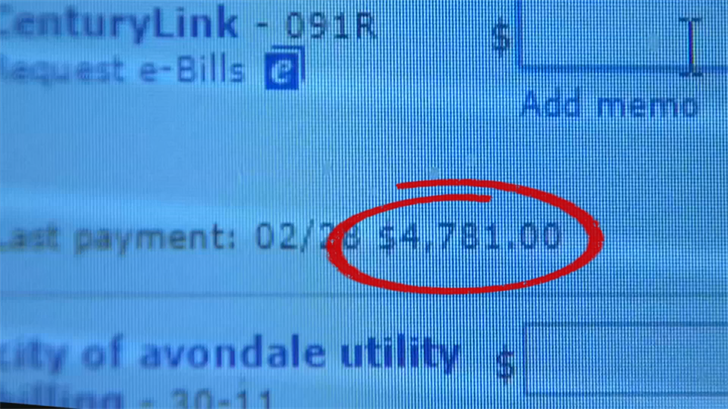 Jeff Lev was trying to pay his CenturyLink bill in the amount of $47.81 and accidentally sent in the wrong amount. (Source: 3TV/CBS 5)