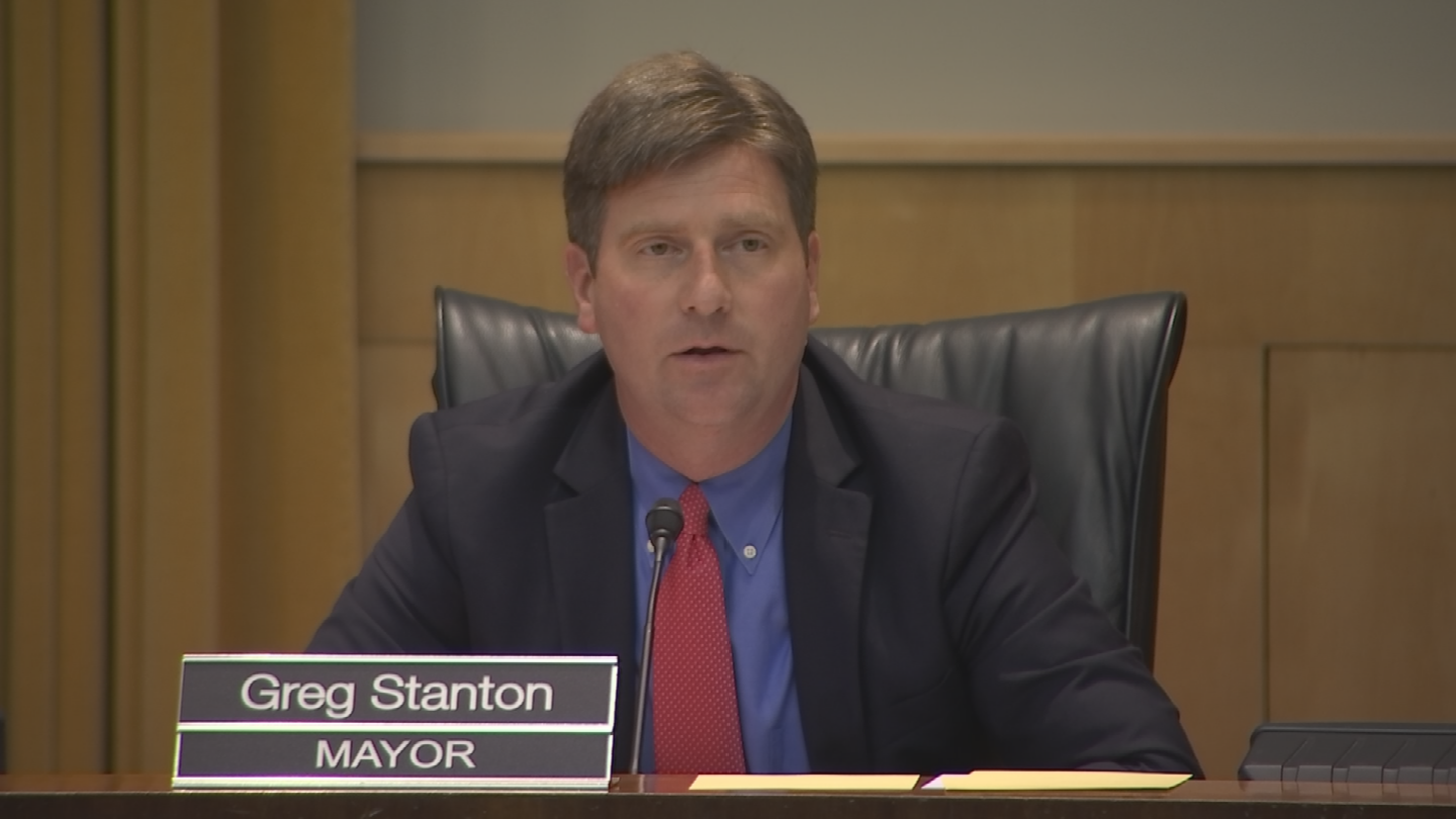 Mayor Greg Stanton has publicly stated that he wants to rename Squaw Peak Drive and Robert E. Lee Street because he believes they don't reflect the city's values.  (Source: 3TV/CBS 5)