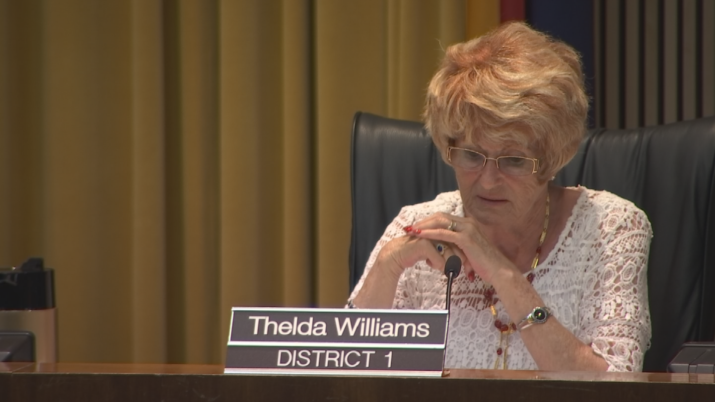 But Councilwoman Thelda Williams said the proposal turns the council into a censorship board because it gives them the power to change the street names without public approval. (Source: 3TV/CBS 5)