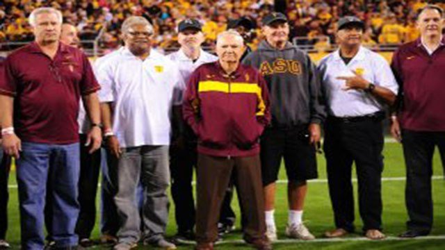 Frank Kush remained a part of the Arizona State football program, even after he was done coaching. (Source: ASU Athletics)