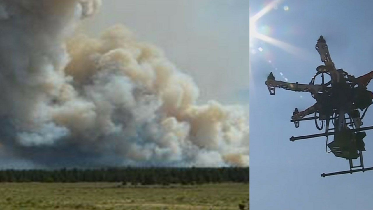Civilian drones are forcing firefighters to ground their aircraft, slowing their ability to fight Arizona wildfires. (Source: Kaibab National Forest/3TV/CBS 5)