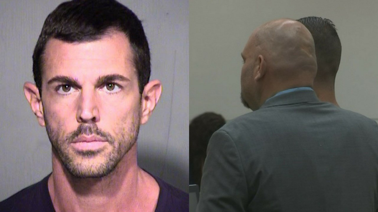Robert Interval, 37, pleaded not guilty to charges of first-degree murder of his missing girlfriend, Christine Mustafa, 34. (Source: MCSO/3TV/CBS 5)