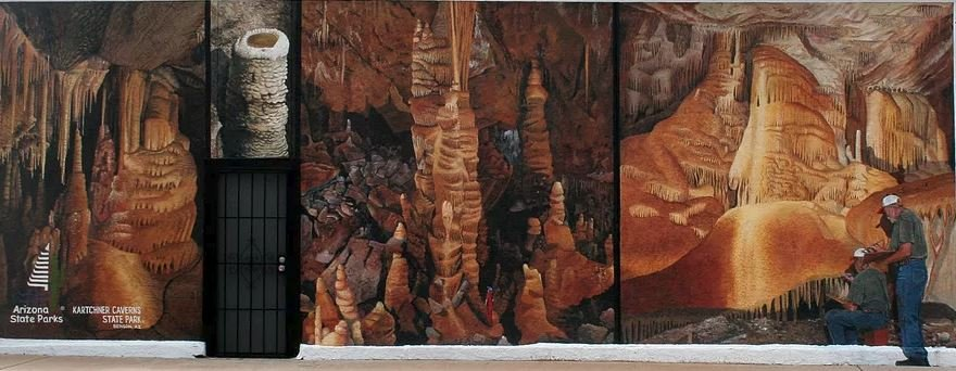 In the Discovery Center of Kartchner Caverns State Park, you will now see three murals by local artist Doug Quarles. (Source: Benson Clean and Beautiful)