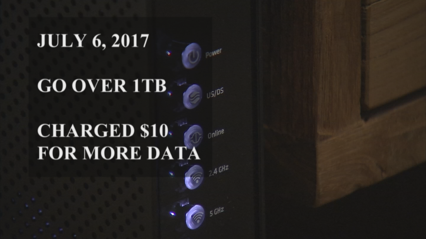 Starting July 6, if users go over their 1 TB data allotment, they will be charged an extra $10 dollars for more data. (Source: 3TV/CBS 5)