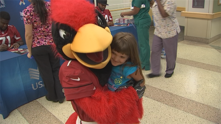 Big Red was there too. (Source: 3TV/CBS 5)